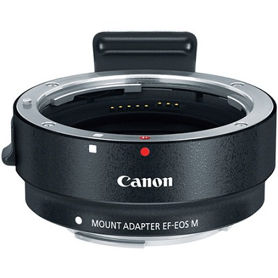 Mount Adapter EF-EOS M for EF and EF-S Lenses to Mount on Canon EOS M Cameras