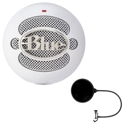 Snowball iCE Condenser Microphone, Cardioid w/ Pop Shield Wind Screen