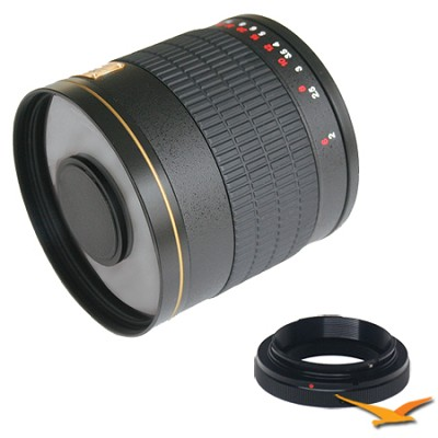 800mm F8.0 Mirror Lens for Samsung NX (Black Body) - 800M-B