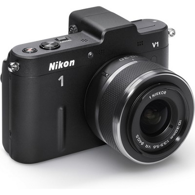 1 V1 SLR Black Digital Camera w/ 10-30mm VR Lens