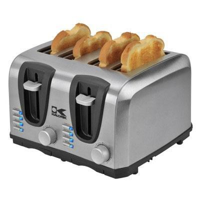 Toaster 4 Slice StainlessSteel
