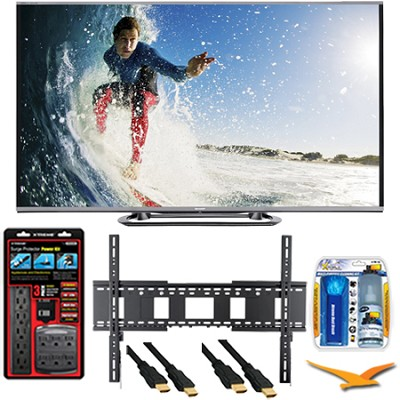LC-80LE857U Aquos 80-Inch 3D Wifi 240Hz 1080p LED TV Plus Wall Mount Bundle