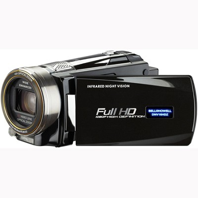 Full 1080p HD 16 MP Infrared Night Vision Camcorder - Black (DNV16HDZ-BK)