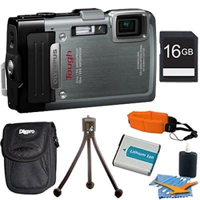 TG-830 iHS STYLUS Tough 16 MP 1080p HD Digital Camera Silver 16GB Kit
