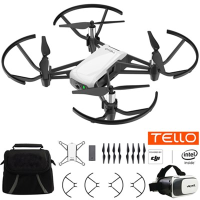 Tello Quadcopter Drone with HD Camera and VR Starter Bundle With Case & Headset