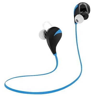 Noise Reduction Wireless Bluetooth Lightweight Sport Headphones w/ Mic - Blue