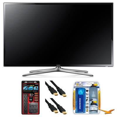 UN65F6300 65` 120hz 1080p WiFi LED Slim Smart HDTV Surge Protector Bundle