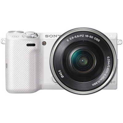 NEX-5TL Compact Interchangeable Lens Camera with 16-50mm Power Zoom Lens White
