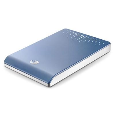 FreeAgent Go 500 GB USB 2.0 Portable External Hard Drive-Sky Blue