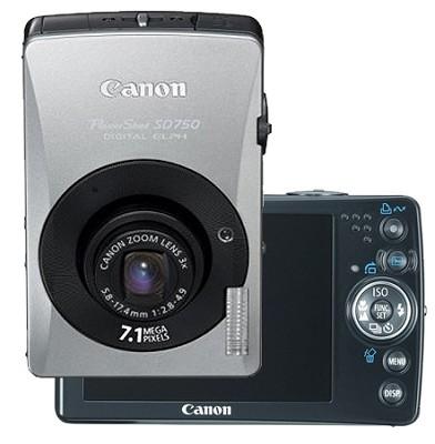 Powershot SD750 Digital ELPH Camera (Black)