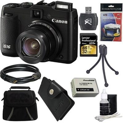 PowerShot G16 12.1 MP Digital Camera Ultimate Kit