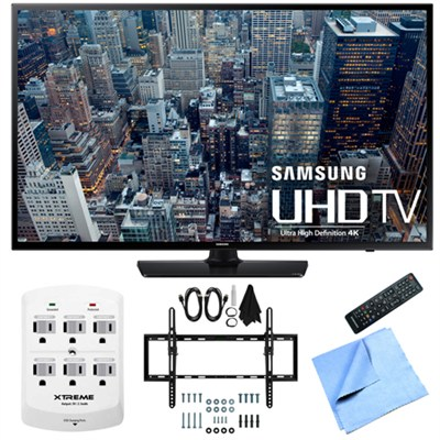 UN55JU6400 - 55-Inch 4K Ultra HD Smart LED HDTV Flat & Tilt Wall Mount Bundle