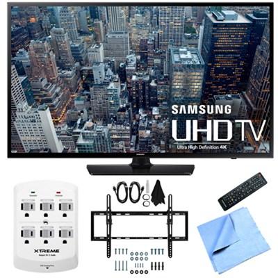 UN55JU6400 - 55-Inch 4K Ultra HD Smart LED HDTV Flat & Tilt Wall Mount Bundle