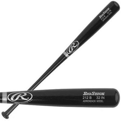 Adult Black Ash Wood Baseball Bat 32`
