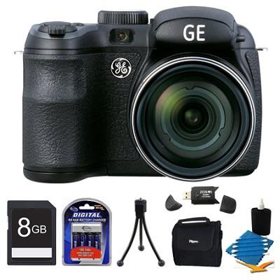 Power PRO X550-BK 16MP Black Digital Camera 8GB Bundle