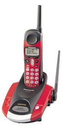 KX-TG2216RV 2.4GHz Digital Cordless Phone (RED)
