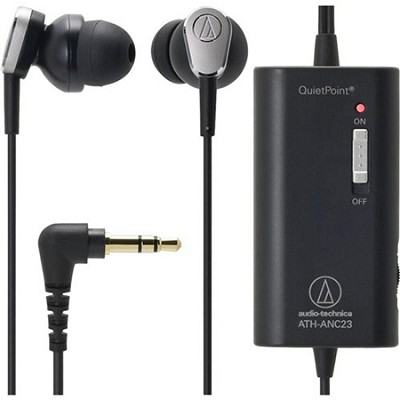 ATH-ANC23BK QuietPoint Active Noise-Cancelling In-Ear Headphones