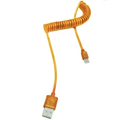 iPhone 5/6 USB Sync & Charge Lightning Cable with LED Light - Orange