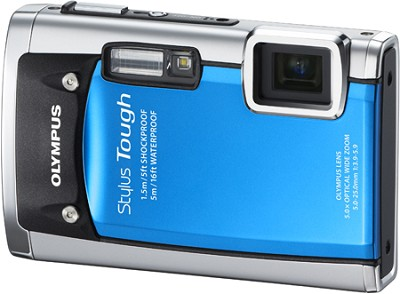 Stylus Tough 6020 Waterproof Shockproof Freezeproof Digital Camera (Blue)