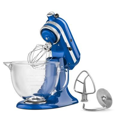 Artisan Series 5-Quart Stand Mixer in Electric Blue with Glass Bowl - KSM155GBEB