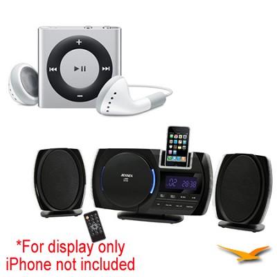 JiMS-260i Wall-Mountable Docking Digital Music System and iPod Shuffle Bundle