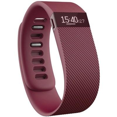 Charge Wireless Activity Wristband, Burgundy, Large - OPEN BOX