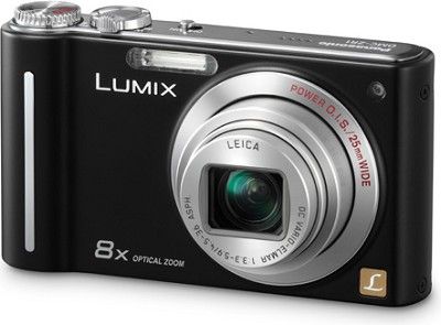 DMC-ZR1K LUMIX 12.1 MP 8x Zoom Digital Camera (Black) (OPEN BOX)