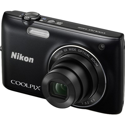 COOLPIX S4100 14MP Black Compact Digital Camera w/ 3-inch Touch Screen