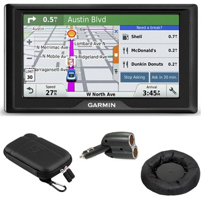 Drive 50LM GPS Navigator Lifetime Maps (US) 010-01532-0C Case + Mount + Charger