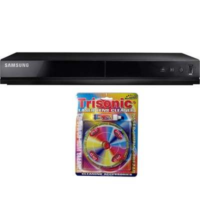 DVD Player with USB Input - DVD-E360 w/ Trisonic Laser Lens Cleaning Bundle