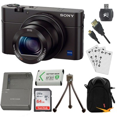 Cyber-shot DSC-RX100 III 20.2 MP Digital Camera Kit