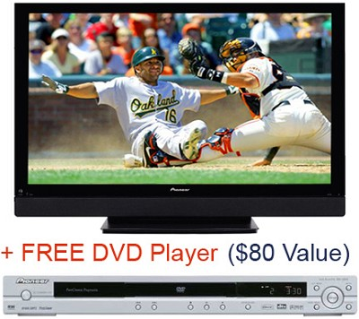 PDP-5070HD 50` PureVision Plasma  HDTV Television (Plus FREE Pioneer DVD Player)