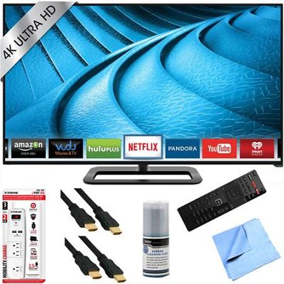 P502ui-B1E - 50-Inch 2160p 120Hz Ultra HD 4K LED Smart TV Plus Hook-Up Bundle