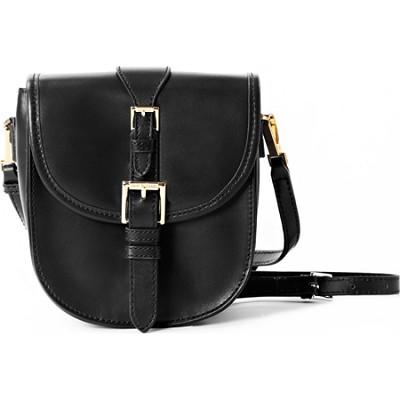 Isaac Mizrahi `JANE` CROSSBODY Genuine Leather Camera & Tech Bag - Black