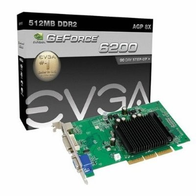 GeForce 6200  512MB DDR2 AGP Graphics Card (512-A8-N403-LR)