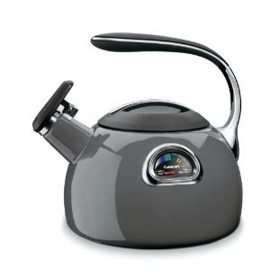 PerfecTemp Porcelain Enameled Teakettle - Graphite Gray