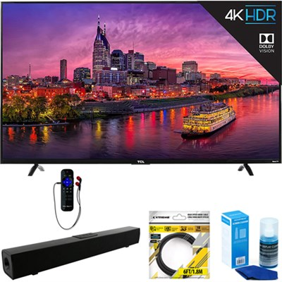 55` 4K Ultra HD Roku Smart LED TV 2017 + Soundbar Bundles