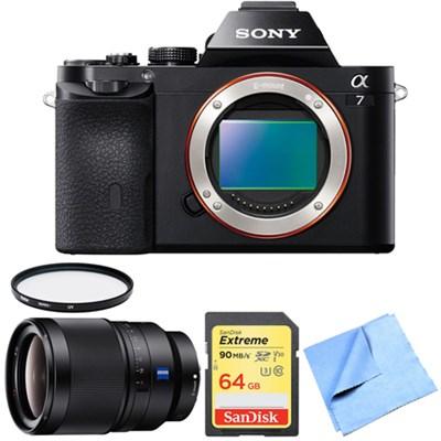 a7 Full-Frame Interchangeable Lens Digital Camera 35mm Prime Lens Bundle