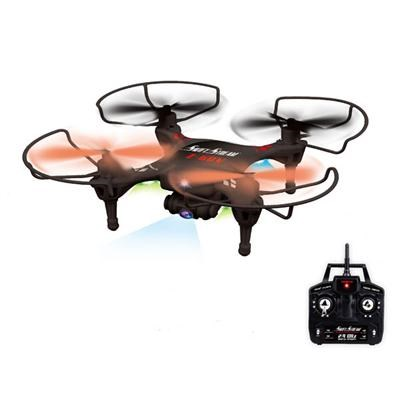 4Hz 5-Channel RC Black Drone with 6-Axis Gyro and 0.3MP Camera - Z-6CV