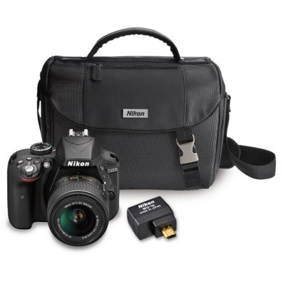 Refurbished D3300 24.2MP DSLR Camera w/ 18-55 VR II Lens + Case & Wifi Adapter