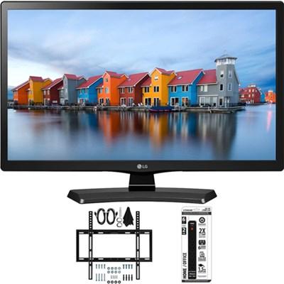 22LH4530 22-Inch Full HD 1080p IPS TV w/ Slim Flat Wall Mount Bundle