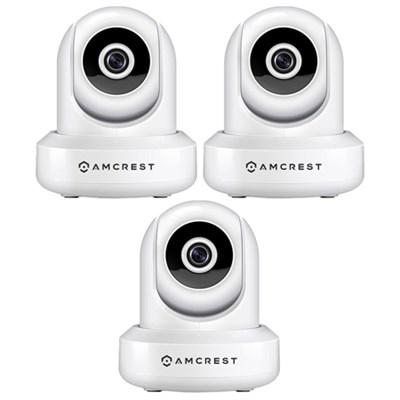 3-Pack ProHD 1080P (1920TVL) 30FPS Wireless WiFi IP Camera - White