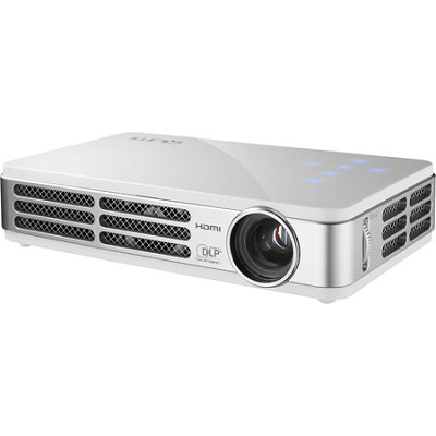 Qumi Q2 300 Lumen WXGA 3D-Ready Pocket DLP Projector (White) Refurbished
