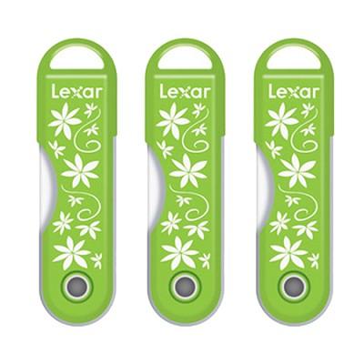 32GB Twistturn Green Flowers USB Flash Memory Drive 3 Pack Bundle