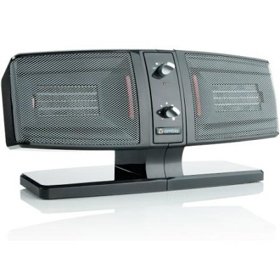 Portable Side-by-Side Two Zone Ceramic Heater