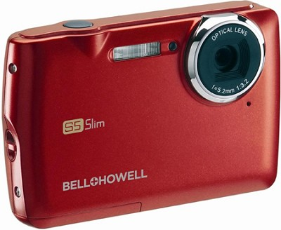 S5 Slim 12.2 MP Red Digital Camera w/ 5X Zoom, 2.7 Inch LCD
