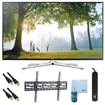 UN50H6350 - 50` HD 1080p Smart HDTV 120Hz with Wi-Fi Tilt Mount & Hook-Up Bundle