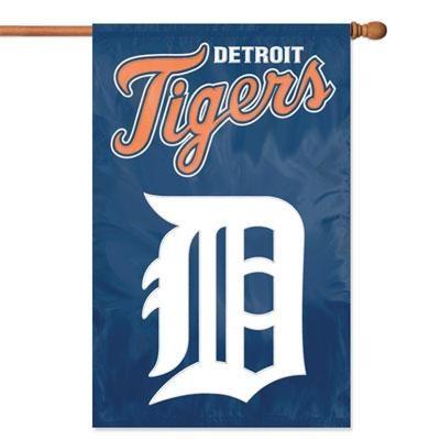 Detroit Tigers Applique Banner Flag - AFDET