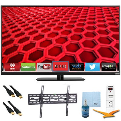 42` 1080p 120Hz LED Smart HDTV Plus Tilt Mount & Hook-Up Bundle (E420i-B0)