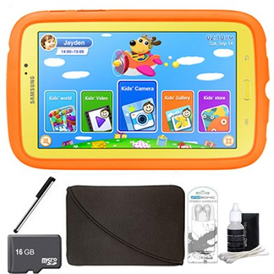 Galaxy Tab 3 7.0` Kids Edition Plus 16 GB Accessory Bundle